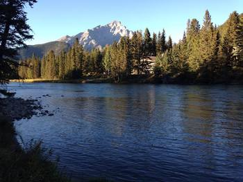 Scenic view near Banff Rocky Mountain Resort.