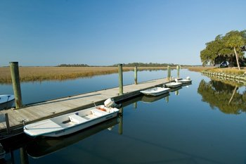 Skiffs for Guests at Lodge on Little St. Simons Island