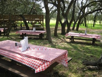 Picnic area at Silver Spur Ranch.