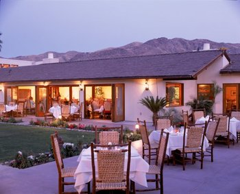 Outdoor dining at Smoke Tree Ranch.