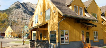Exterior view of Waterton Lakes Lodge.