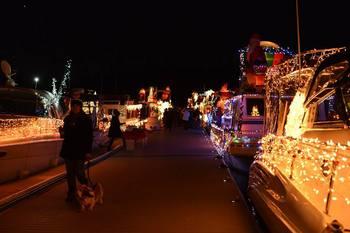 Holiday lights at Callville Bay.