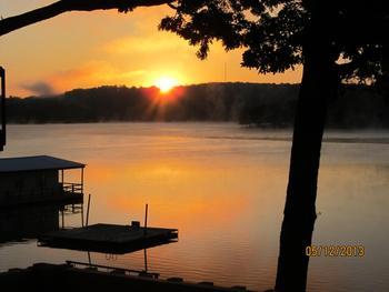 Sunset over Knotty Pine Resort.
