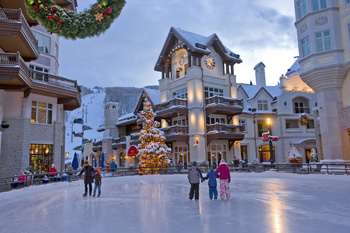 Ice skating in Vail Colorado at SkyRun Vacation Rentals - Vail, Colorado.