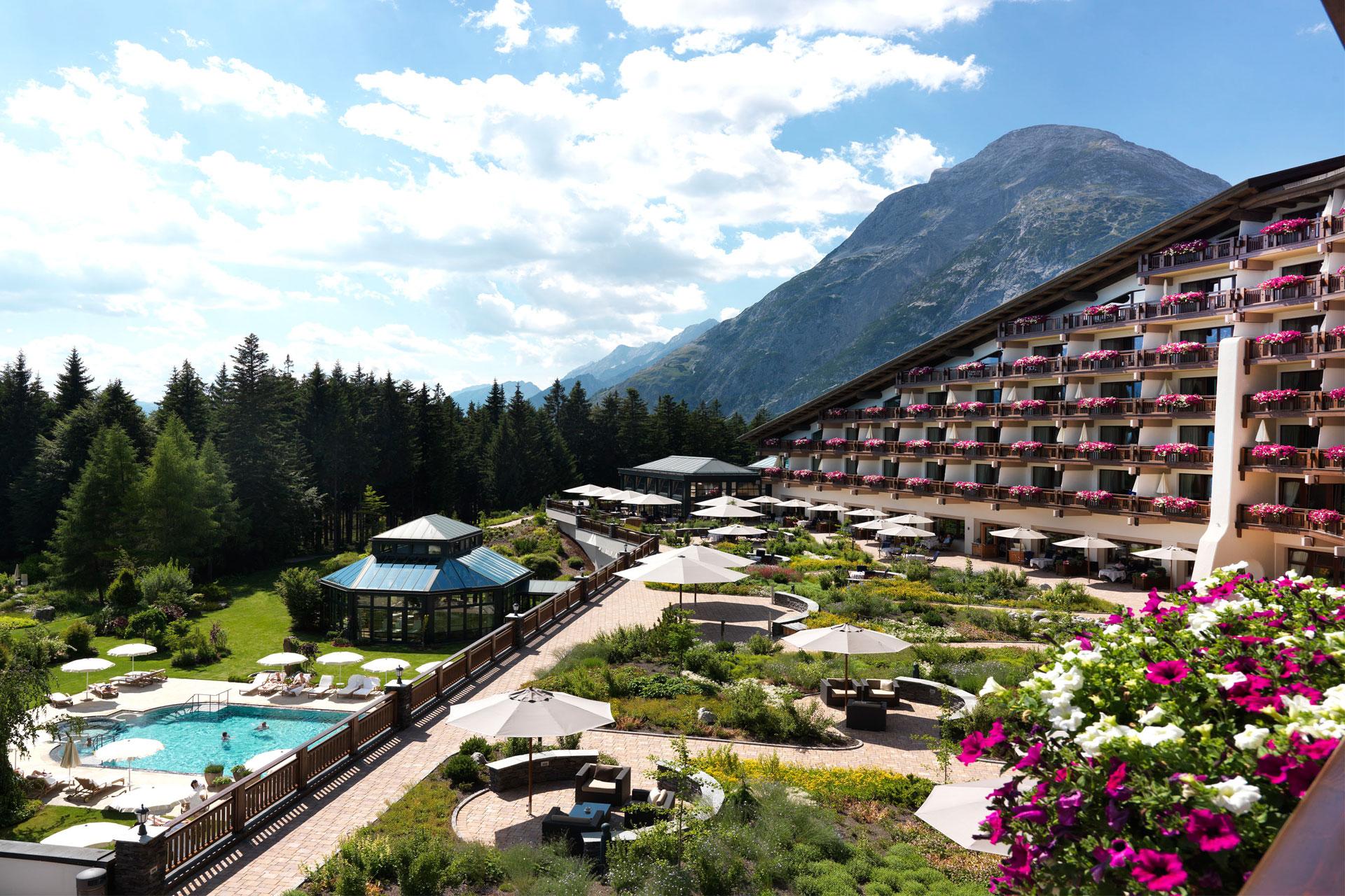 Exterior view of Interalpen-Hotel Tyrol.