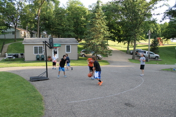 Basketball court at East Silent Resort.