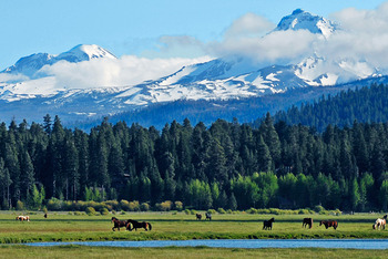 Mountain view at Black Butte Ranch.