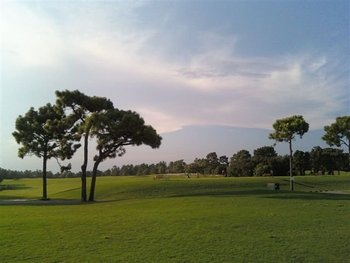 Golf course at Beau Rivage Resort.