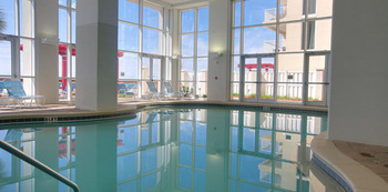 Indoor pool at Schulstadt Rentals.