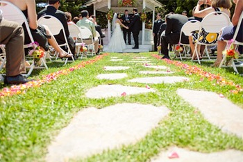 Wedding Ceremony at Cambria Pines Lodge