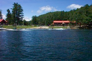 Lake view at Ridin-Hy Ranch Resort.