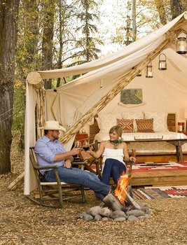 Glamping at Fireside Resort