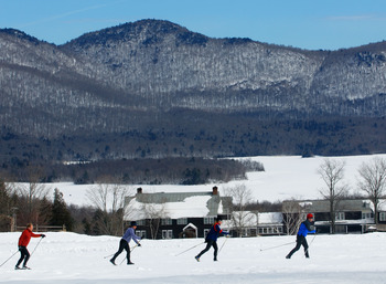Cross Country Skiing at The Mountain Top Inn & Resort