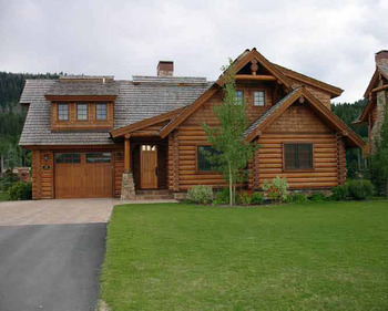 Luxury cabin at Teton Springs Lodge.