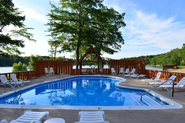 Outdoor pool at Sojourn Lakeside Resort.