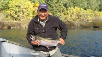Fishing at Morrison's Rogue River Lodge.