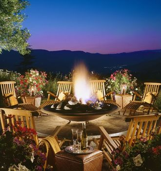 Fire pit at Lodge & Spa At Cordillera.