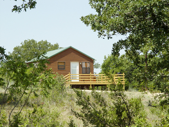 Cabin exterior at Hideaway Ranch & Retreat.