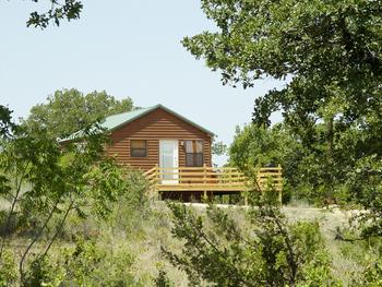 Cabin exterior at Hideaway Ranch & Retreat.