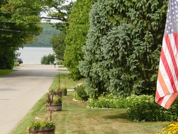 Lake view at Ephraim Guest House.