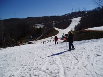 Skiing near The Cabins at Pine Haven.