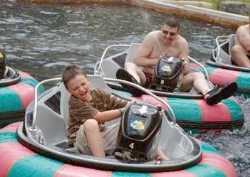 Bumper Boats at Woodloch Resort