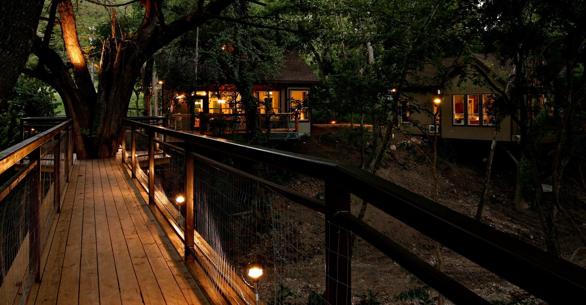 Exterior view of River Road Treehouses.
