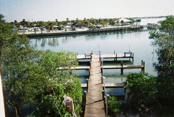 The dock at Englewood Beach & Yacht Club.