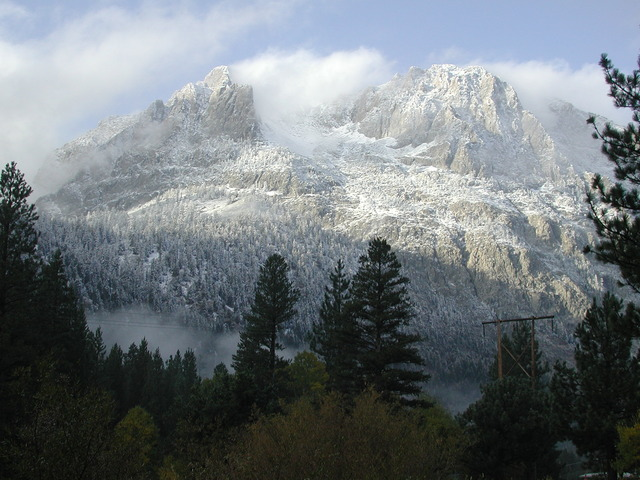 Gorgeous mountains at Reverse Creek Lodge.