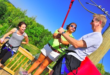Adventure ropes at Nemacolin Woodlands Resort.