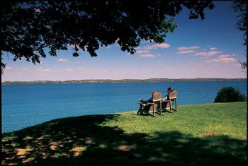 Beautiful Scenic View at Geneva on the Lake
