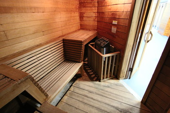 Sauna at Eastern Slope Inn Resort.