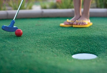 Putting Green at La Torretta Lake Resort