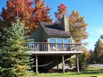 Vacation rental exterior at Black Bear Resort.