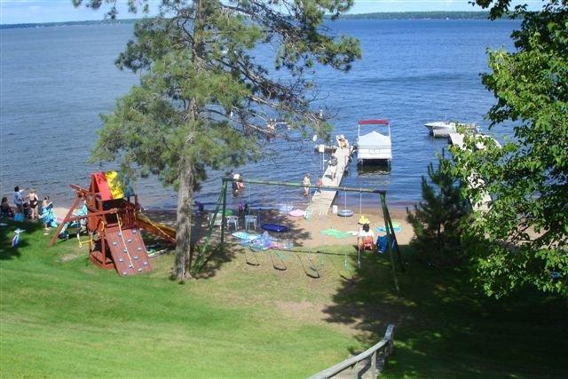 Lake view at Lykins Pinehurst Resort.