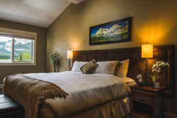 Guest bedroom at Solara Resort & Spa.