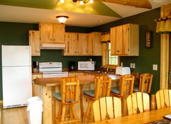 Cabin kitchen at  Breezy Point Resort.