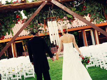 Wedding at Rancho De Los Caballeros.