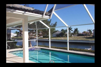 Vacation rental pool at  American Patriot Getaways.