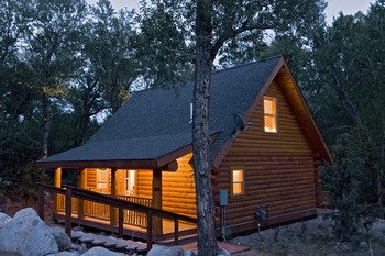 Cabin Exterior at Mt. Princeton Hot Springs Resort