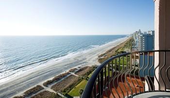 Balcony view at Palms Resort.