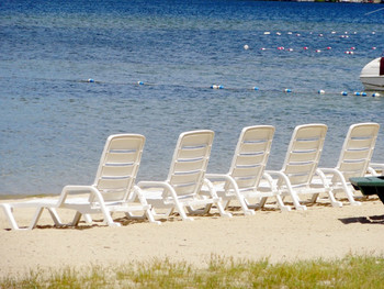 Beach chairs at Misty Harbor.