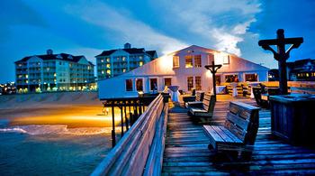 Pier view at Hilton Garden Inn Outer Banks.