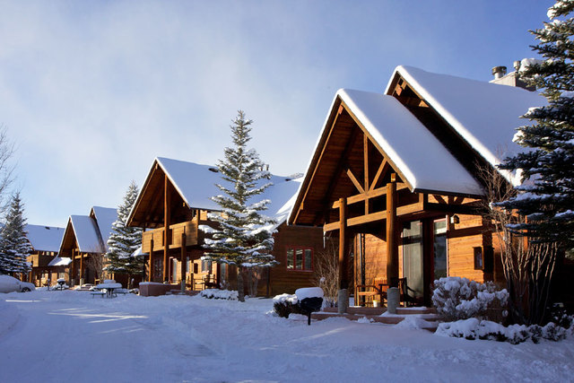 Winter time at Ram's Horn Village Resort.