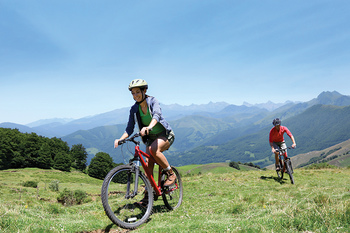 Mountain biking at Trailhead Lodge.