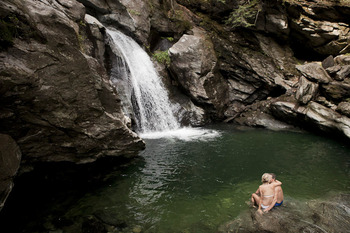 Swimming hole near Topnotch Resort.