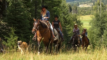 Riding on forest and mountain trails