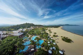 Aerial view of Shangri-La's Rasa Ria Resort.