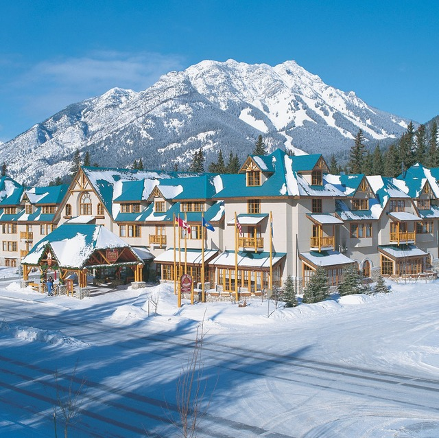 Exterior view of Banff Caribou Lodge & Spa.
