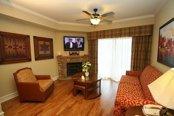 Suite Living Room at RiverStone Resort